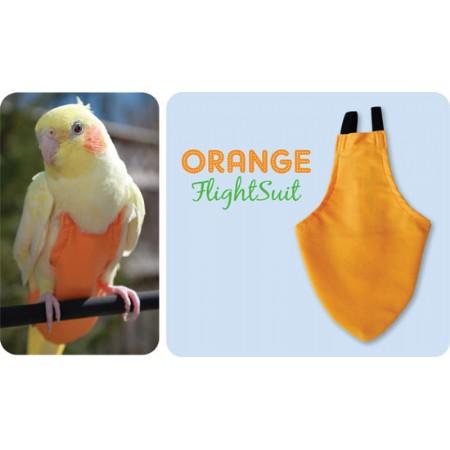 Flightsuit papegaaienluier X-Small Oranje   Met handige klittenbandsluiting