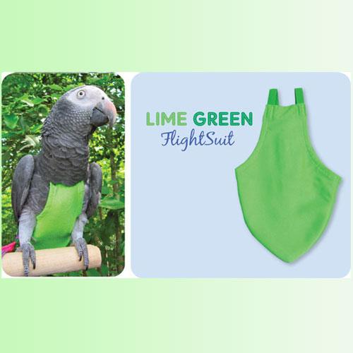 Flightsuit Papegaaienluier Petit Groen   Met handige klittenbandsluiting