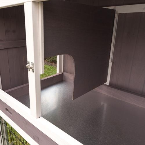 Konijnenhok Amalie binnenkant