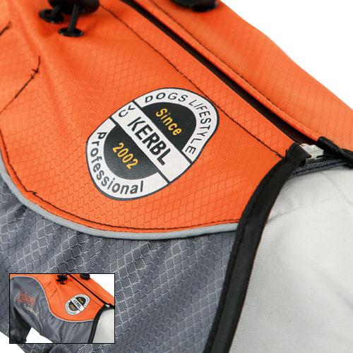 Honden Regenjas London Oranje-grijs