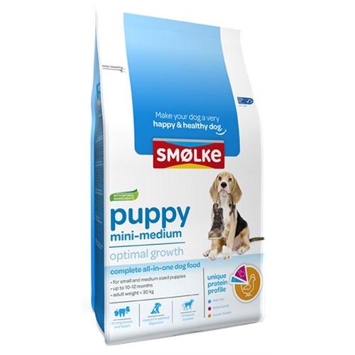 Smolke Puppy mini-medium brokken 12kg.