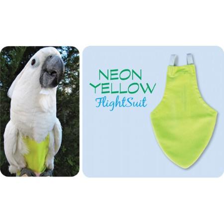 Flightsuit papegaaienluier X-Small Geel   Met handige klittenbandsluiting