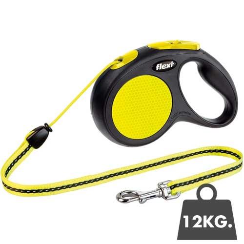 Flexi Rollijn New Neon - Honden tot 12kg.  - 5meter koord
