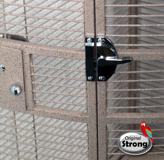 Papegaaienkooi Nadia XL zandkleur | Papegaaien kooi | deurslot