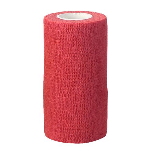 Zelfklevende bandage rood 10cm breed