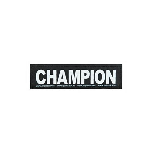 Julius k9 tekstlabel Champion