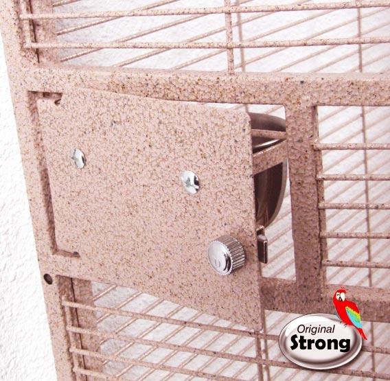 Papegaaienkooi Nadia XL roze | Papegaaienkooi | voederbak deurtje