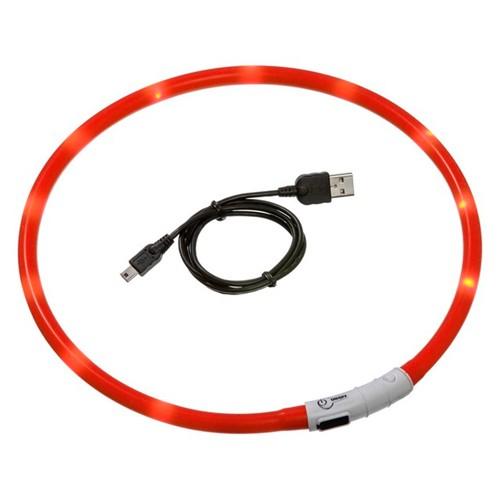 Maxi Safe LED halsband Rood   Met oplaadbare accu via USB kabel