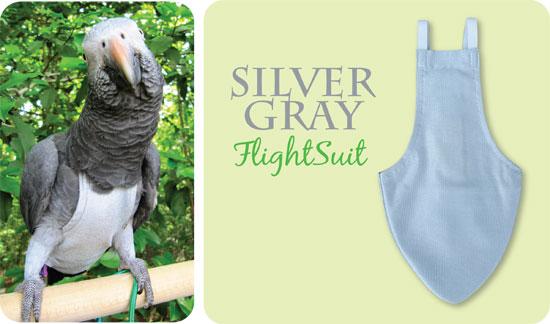 Flightsuit papegaaienluier X-Large Grijs