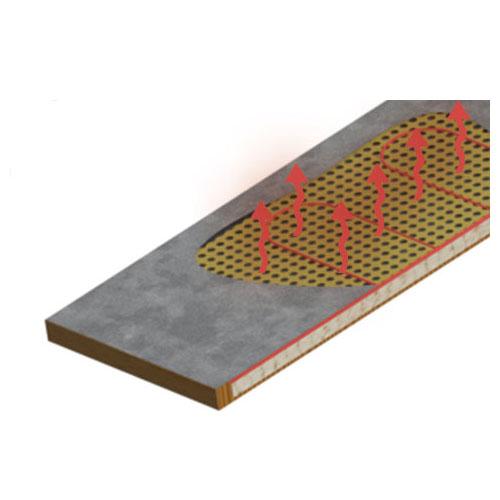 Kippenhok Nofrost - bodemoppervlak met ingebouwde verwarmingselementen