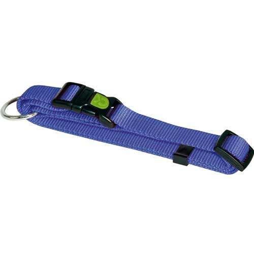 Hondenhalsband Miami blauw met vergrendelschuif