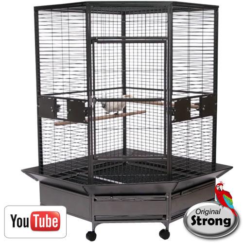 Original Strong papegaaienkooi Dahlia | Bruikbaar als hoekkooi
