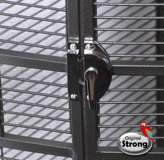 Papegaaienkooi Sara grijs   Papegaaien kooi   deurslot