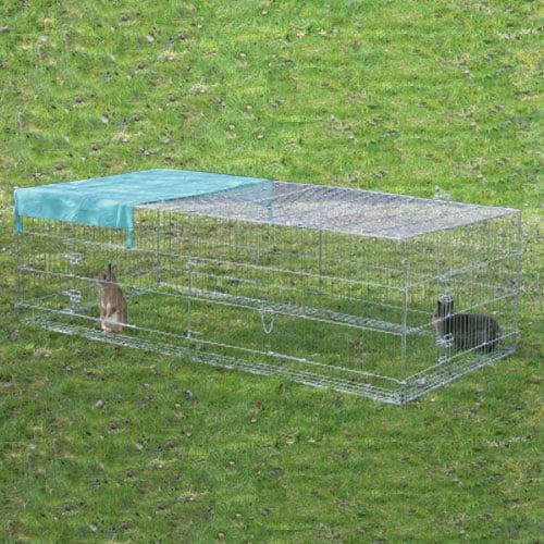 Konijnenren Mimi 230 cm. | Geleverd inclusief zonnescherm