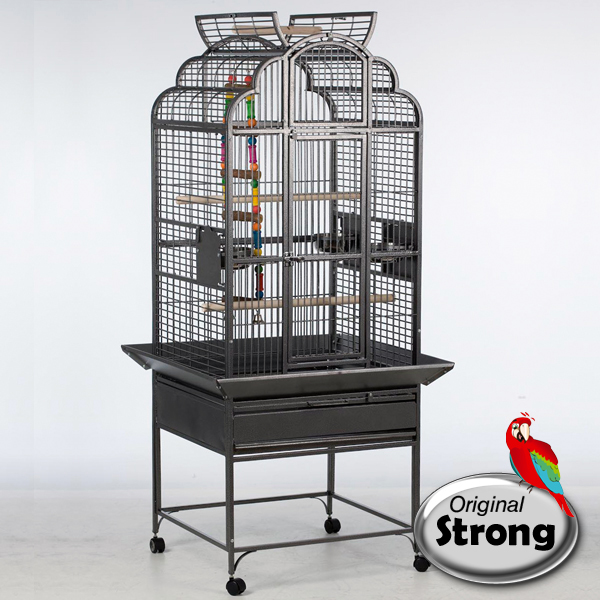 Papegaaienkooi Rhea grijs