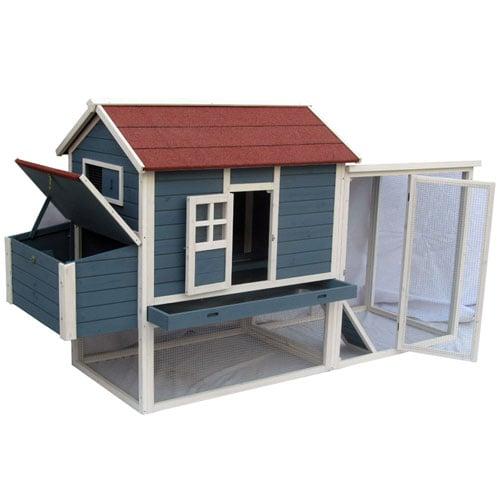 Kippenhokken | Kippenhok Flaine | Leghok voorzien van scharnierend dak