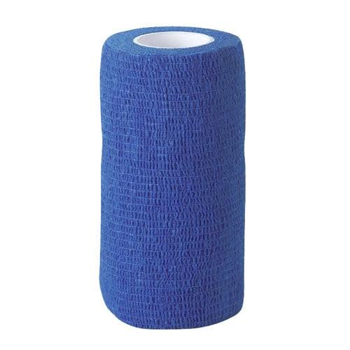 Zelfklevende bandage blauw 10cm breed