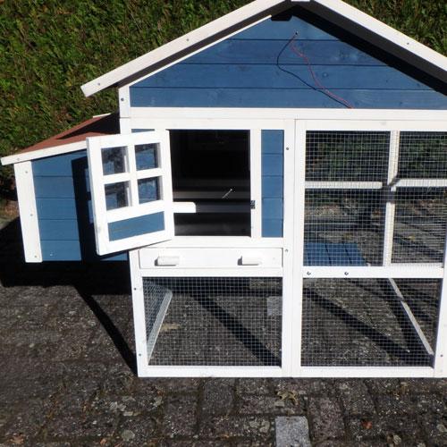 Kippenhokken | Kippenhok Calypso Blauw/Wit