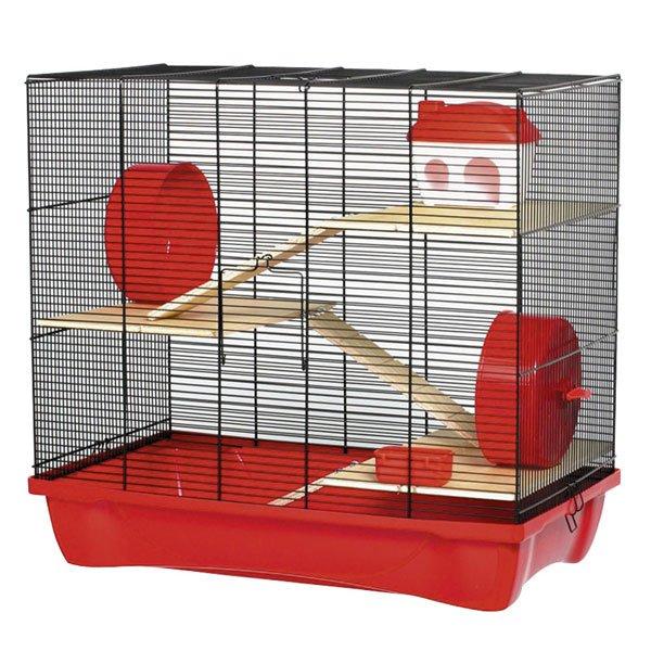 Hamsterkooi Glee Rood 58cm.