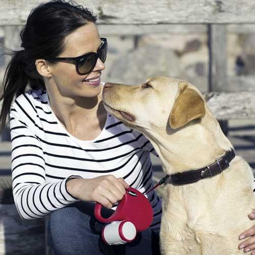 Flexi New Classic Lint XL Zwart - Honden tot 50kg.