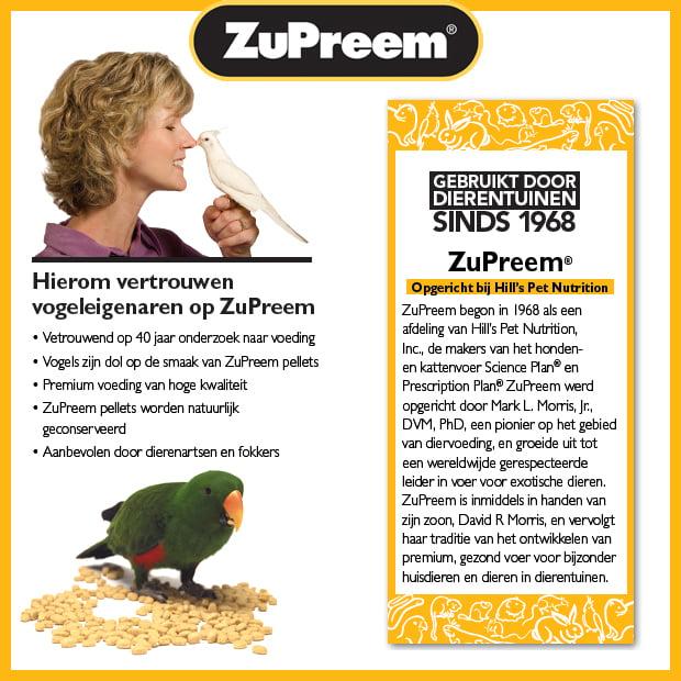 Vogelvoer | Papegaaienvoer | Hierom vertrouwen vogeleigenaren op Zupreem