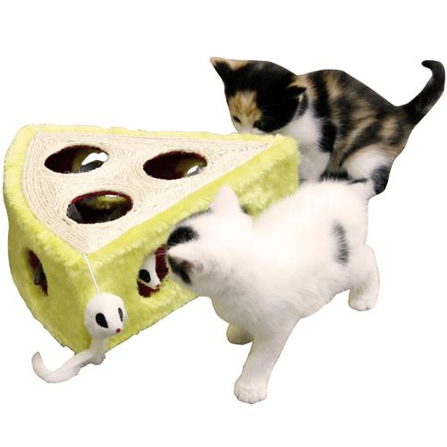 Kattenspeelgoed | Krabbelkaas bekleed met pluche en sisal