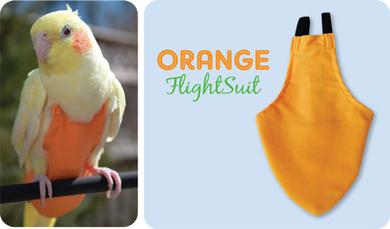 Flightsuit papegaaienluier Medium Oranje   Met handige klittenbandsluiting