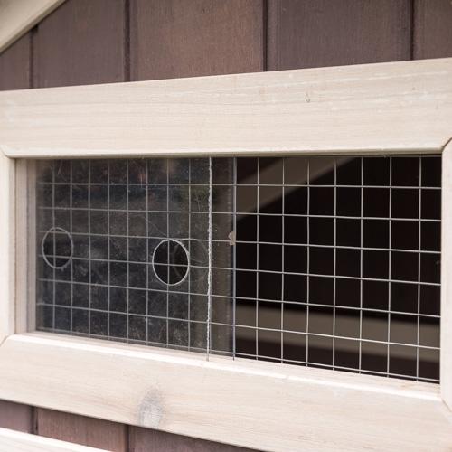 Konijnenhok Amalie ventilatie