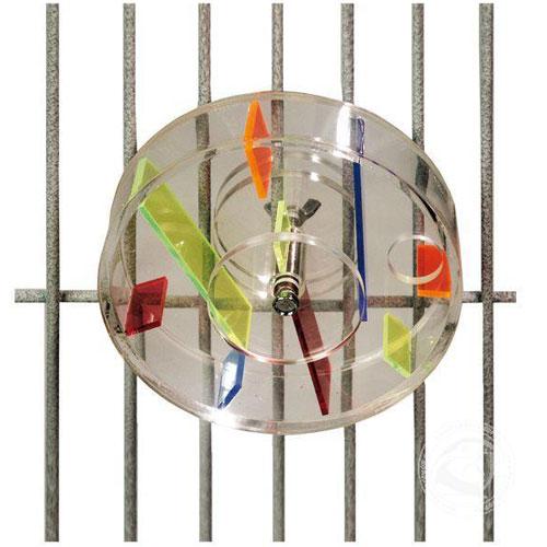 Interactief Papegaaienspeelgoed   Acryl speelwiel Large