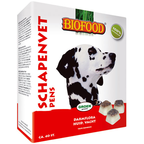 Hondensnacks   Schapenvet bonbons naturel 250gram