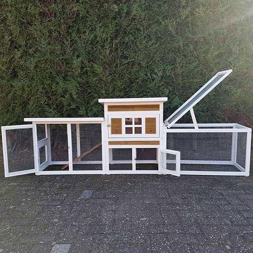 Konijnenhok Villa XL met open ren