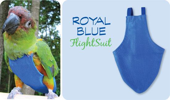 Flightsuit papegaaienluier Medium Blauw   Met handige klittenbandsluiting