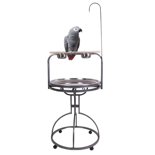 Verrijdbare papegaaien speelstandaard Julia grijs
