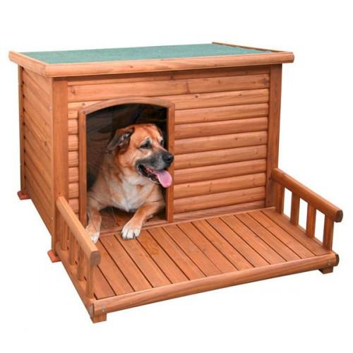 Hondenhokken | Hondenhok Amazing | Met bitumen dak en kunststof lamellen