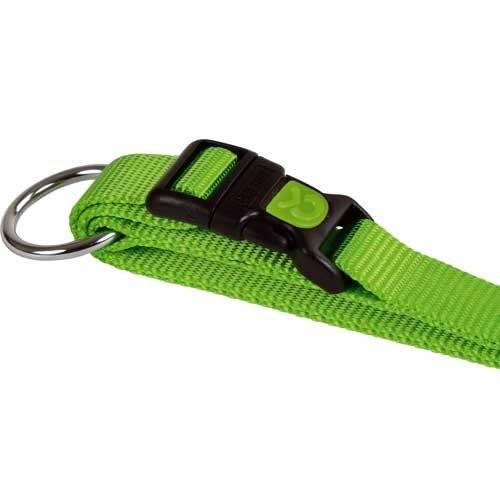Hondenhalsband Miami groen met vergrendelschuif