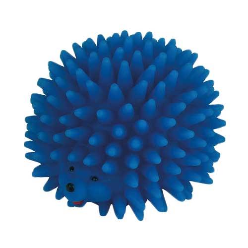 Vinyl Hondenspeelgoed   Egel met piepgeluid Blauw