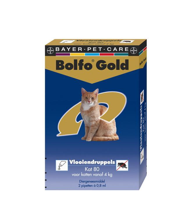 Vlooiendruppels Bolfo Gold Kat 40 - 2 Pipetten