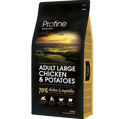 Hondenvoer Adult Large Breed Kip   Natuurlijke hondenbrokken    Profine