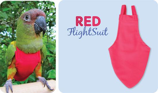 Flightsuit papegaaienluier Small Rood   Met handige klittenbandsluiting